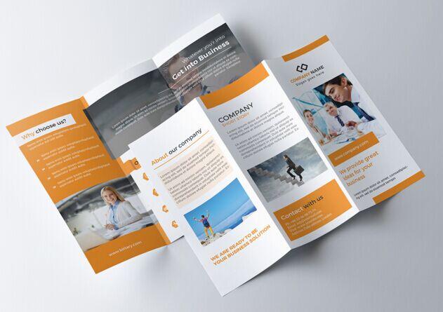 Free Print Ready Tri Fold Brochure Psd Template Titanui