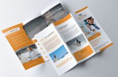 Print-ready Tri-fold Brochure PSD Template