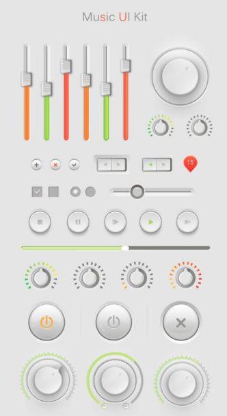 Clean Music UI Kit PSD