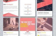 Corporate Trifold Brochure PSD Template