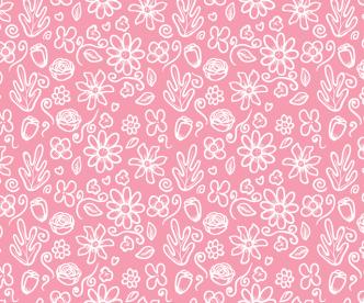 Seamless Pink Flower Pattern Vector
