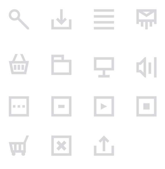 Minimalist Web Application Icons Vector