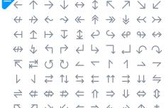 100+ Arrow Icons PSD