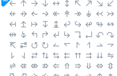 100+ Arrow Icons PSD
