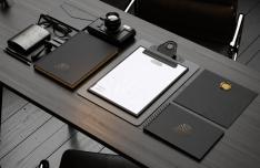 Elegant Dark Stationery & Branding PSD Mockup