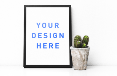 Simple Standing Frame PSD Mockup