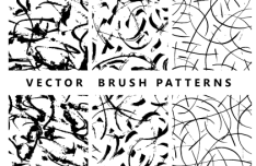 3 Handmade Vector Brush Patterns