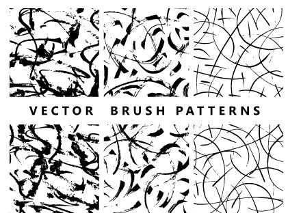 3 Handmade Vector Brush Patterns
