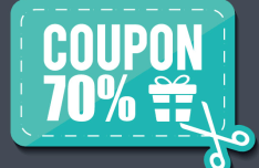 Blue Gift Coupon Vector