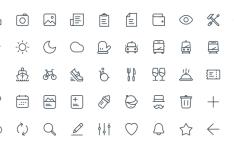 50 Thin Line Web Icons (AI+Sketch)