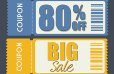 2 Vintage Big Sale Vector Coupons