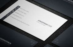 Elegant White & Dark Corporate Business Card Templates