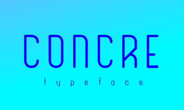 Concre Typeface