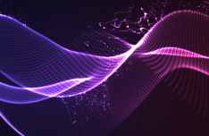 3D Abstract Lines Vector Background #5