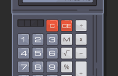 Flat Calculator Vector