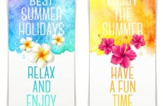 2 Elegant Summer Holiday Banners Vector VOL.1