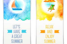 2 Elegant Summer Holiday Banners Vector VOL.2