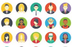 35 Cartoon Character & Avatar Icons Vector
