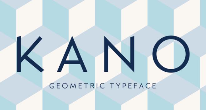 Kano Geometric Font