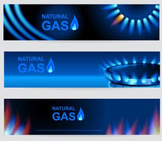 Natural Gas Vector Banner Set