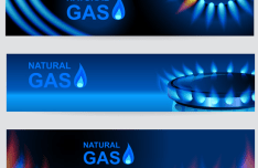 Natural Gas Vector Banner Set