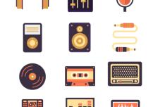 12 Sound Audio Icons Vector