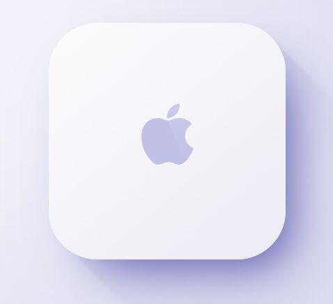 Flat Mac Mini Icon PSD