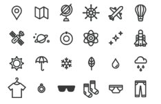 60 UI Line Icons Vector