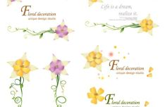 Floral Decoration Set Vector