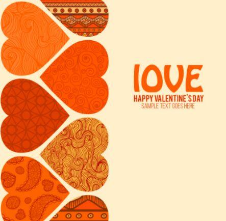 Retro Valentine's Day Love Hears Vector