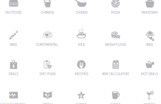 20 Minimal Food Icons PSD