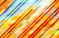 Gradient Triangle Vector Background 01