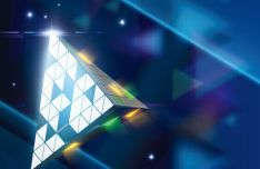 Futuristic 3D Triangle Vector Background