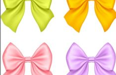 sleek-satin-ribbon-bow-vector-set-1