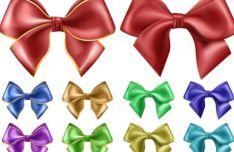 sleek-satin-ribbon-bow-vector-set-3