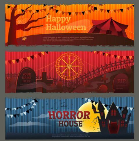 3-happy-halloween-vector-banner-templates