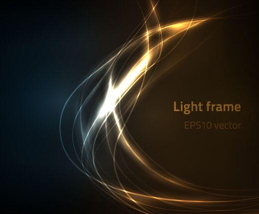 Light Gold Frame Background Vector