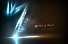 lightening-strike-vector-background