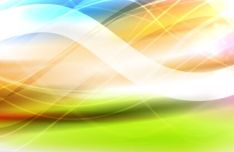 Rainbow Light Vector Background
