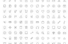 130-vector-thin-line-icons