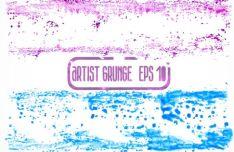 4-grunge-brush-textures-vector