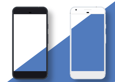 black-and-white-google-pixel-vector-templates
