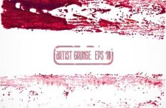 red-grunge-brush-vector