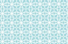 Vintage Blue Follower Vector Pattern