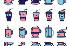 20-coffee-icons-vector