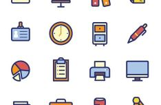 20-colored-office-icons-vector