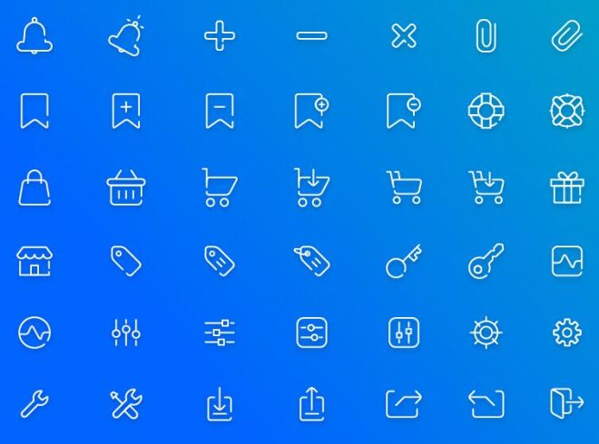 40-e-commerce-line-icons-vector