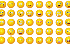 40-yellow-emoji-icons-vector