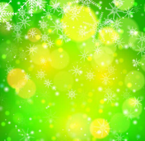 bokeh-snowflake-vector-background-3