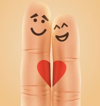 Love Couple Fingers Vector